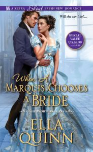 Author Event: When a Marquis Chooses a Bride by Ella Quinn (Excerpt, Review & Giveaway)